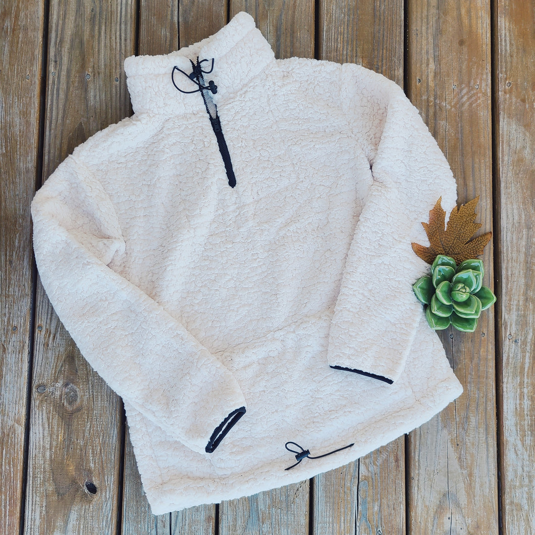 Wrap Me Up Sherpa Pullover