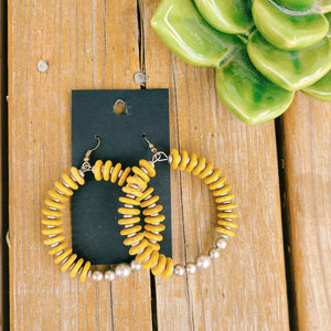 The Josephine Earrings- Mustard
