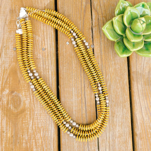 The Josephine Necklace- Mustard