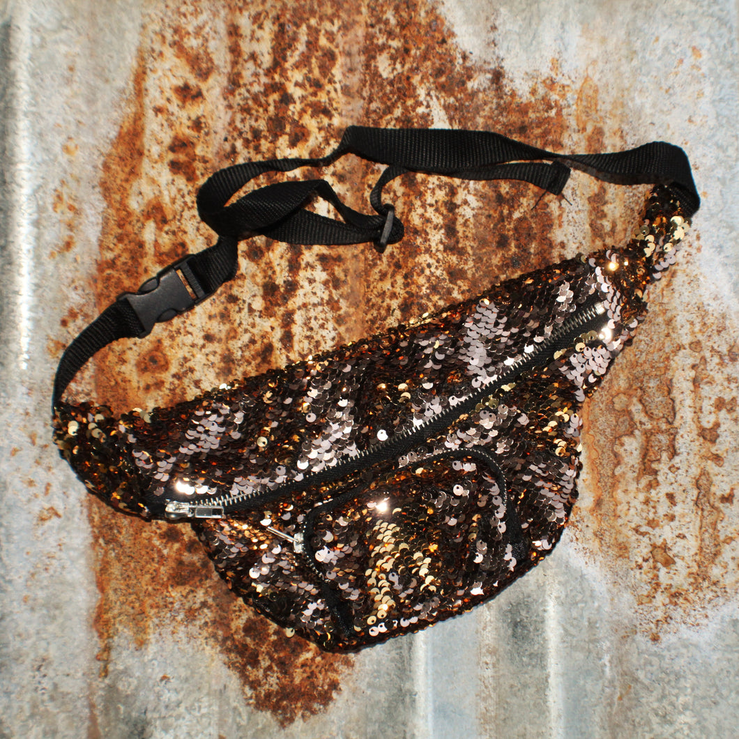 Rose Gold/Gold Mermaid Sequin Fanny Pack