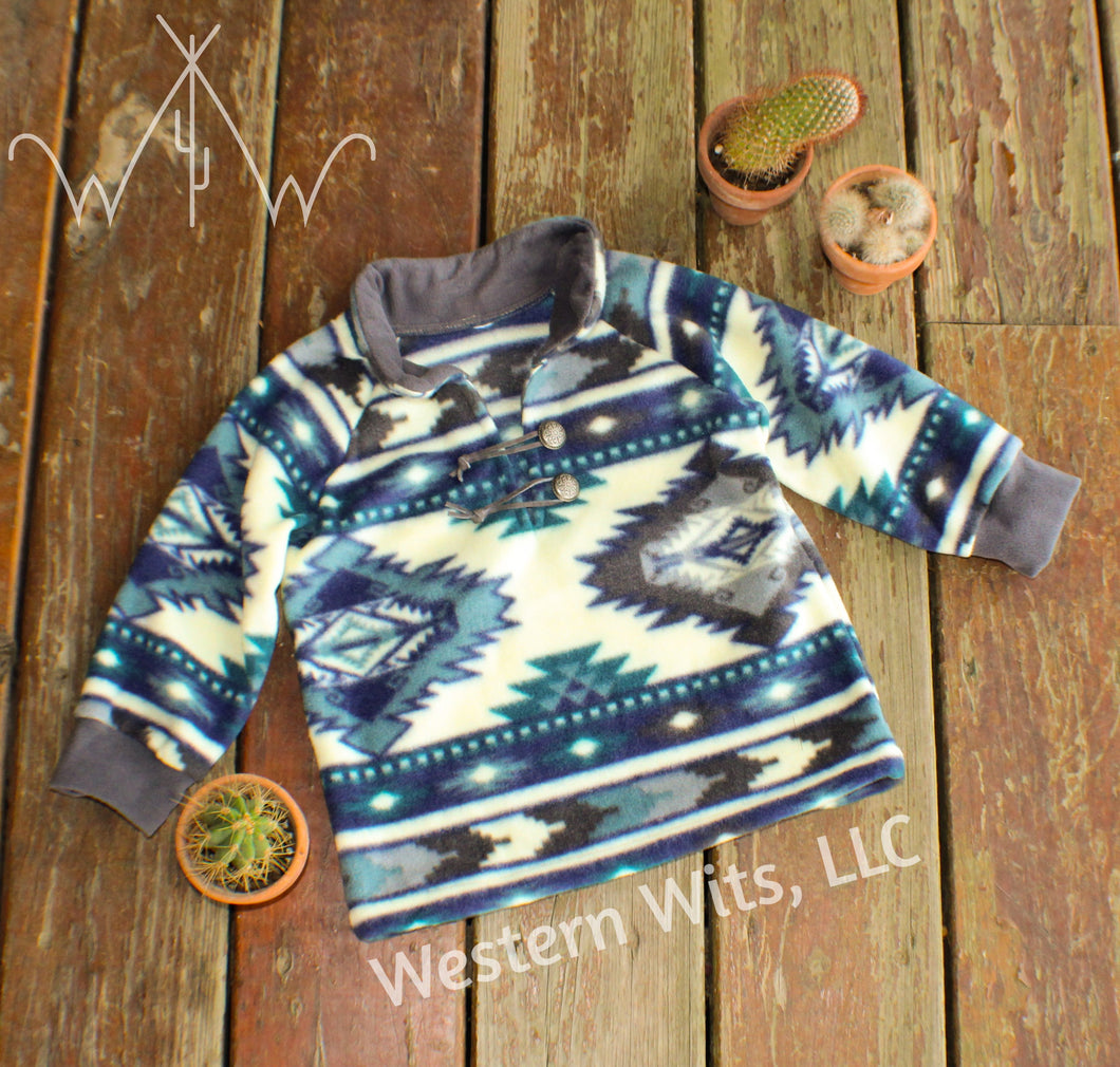 *TODDLER* Icey Aztec Punchy Pullover