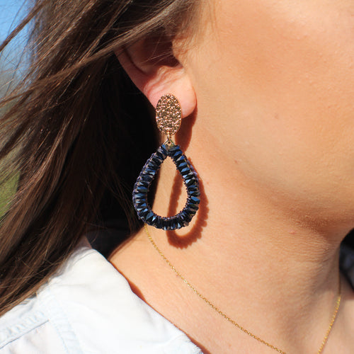 Fit for a Queen Earrings- Charcoal