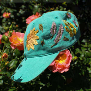 In the Garden Hat- Turquoise