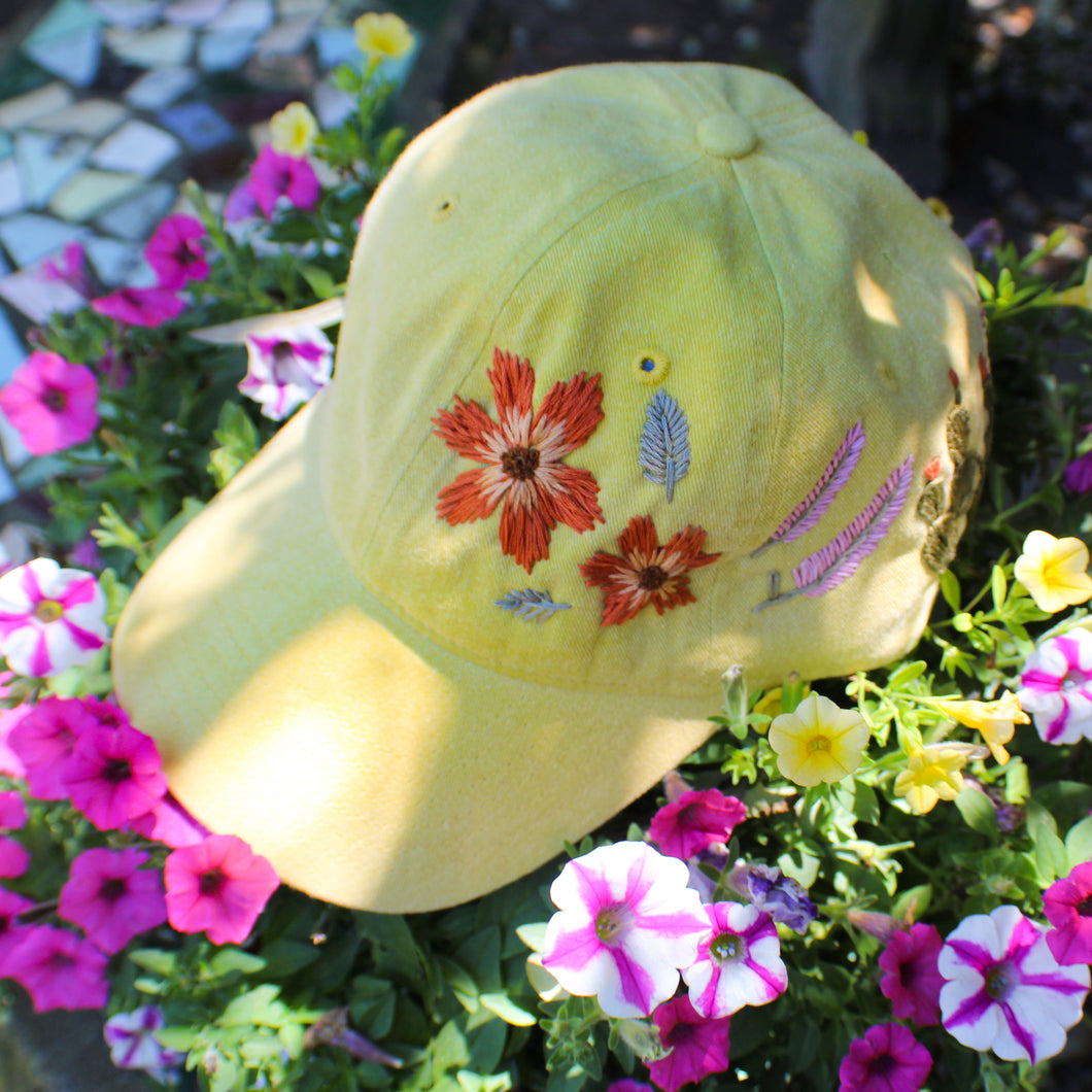 In the Garden Hat- Light Yellow
