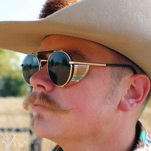 Vintage Cowboy Shades- Gold/Black