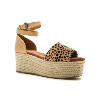 Cheetah Espadrilles Platform Shoes
