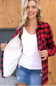 Christmas Flannel- Red