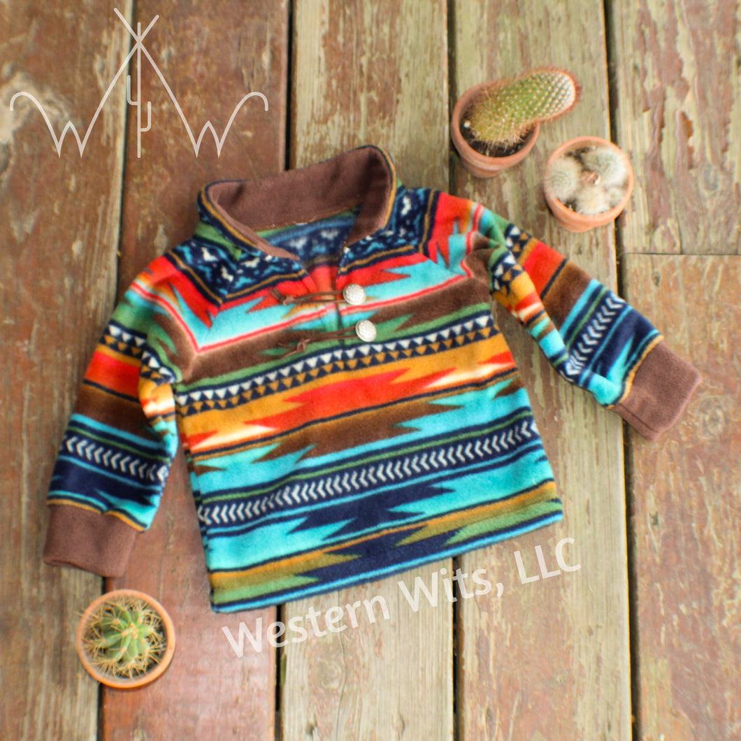 *TODDLER* Serape Sunset Punchy Pullover
