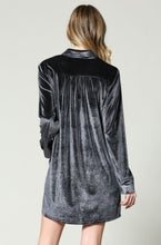 Oh So Soft Velvet Cardigan- Charcoal