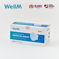WellM x HNF 3 Ply Elastic Ear Loop Medical Mask