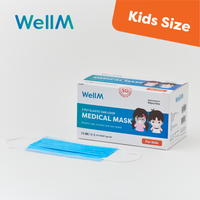 WellM 3 Ply Elastic Ear Loop Medical Mask for Kids