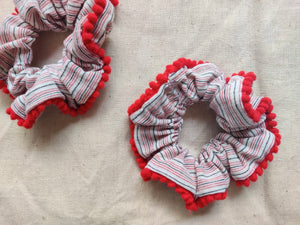 Upcycled Lace scrunchies