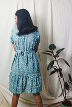 Load image into Gallery viewer, Nirvat Green Ikat dress