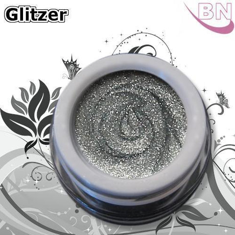 Farbgel Glitter Frozen Silver 5Ml - Beautiful Nails