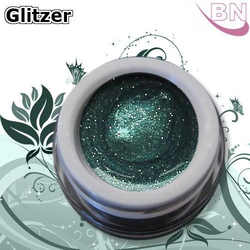 Farbgel Glitter Irish Green 5Ml - Beautiful Nails