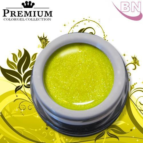 Farbgel Glitter Neon Yellow 5Ml - Beautiful Nails