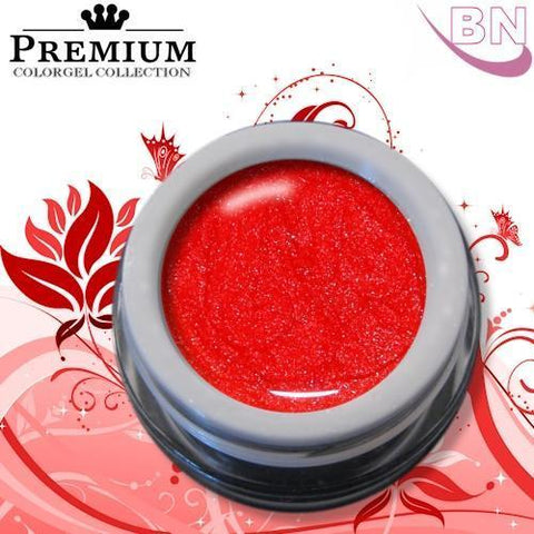 Farbgel Glitzer Neon Red 5Ml - Beautiful Nails
