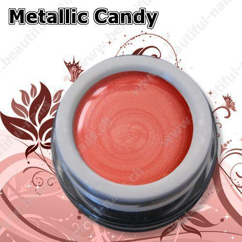 Farbgel Metallic Candy Peach 5Ml - Beautiful Nails