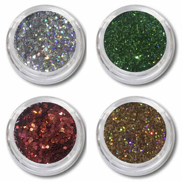 Glitzerpuder Fairydust Im 4Er Set Weihnachten - Beautiful Nails