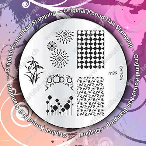 Original Konad Stamping Schablone M99 - Beautiful Nails