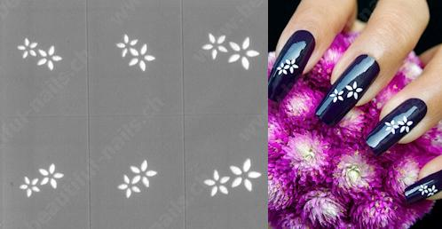 Selbstklebende Nagellack Nailart Schablone Beautiful Nails