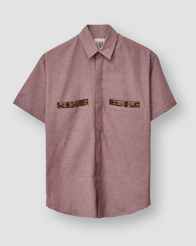 Camisa Pocket Liso Burgundy