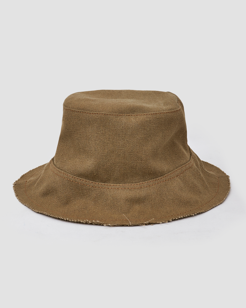 Bucket Hat Canvas Beige - UNØ LIMA
