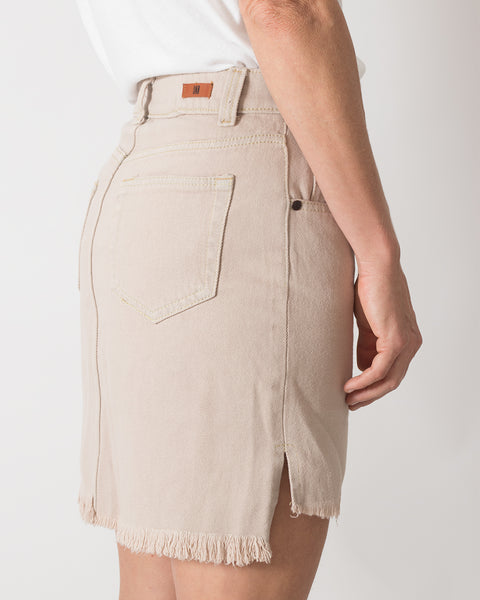 Falda Punk-Me Denim Beige