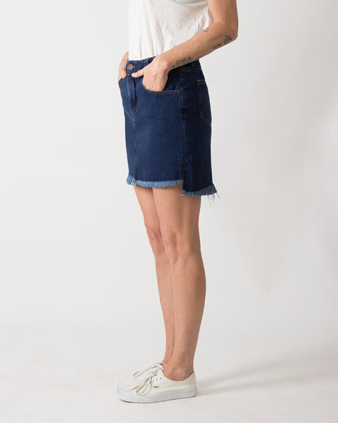 Falda Punk-Me Denim Azul