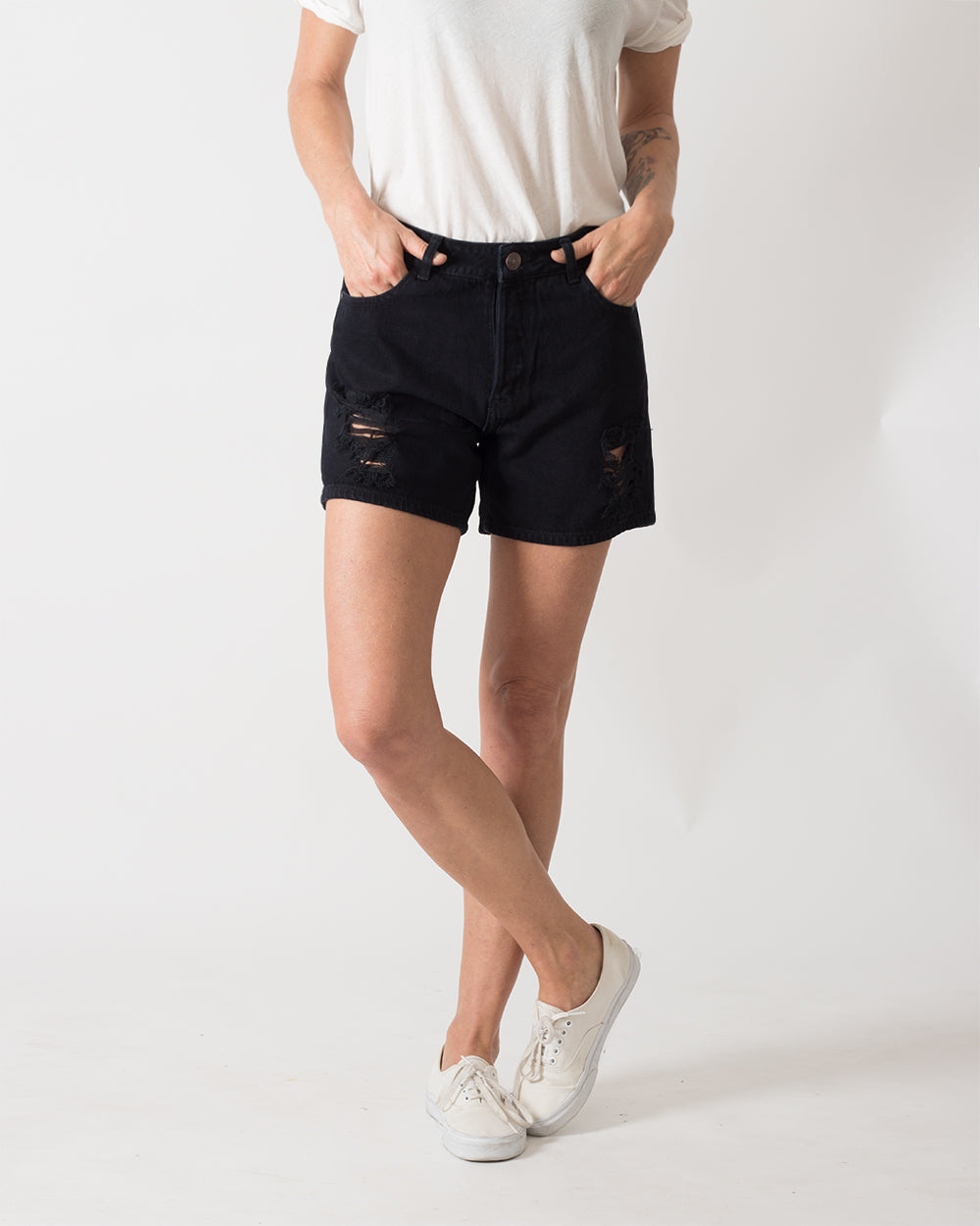 Short Shorties Denim Negro