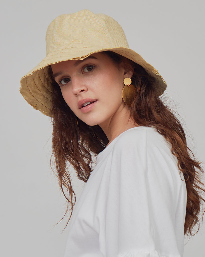 Bucket Hat Canvas Amarillo - UNØ LIMA