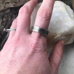 Simple Sterling Silver Wide Band Ring - Made to Order