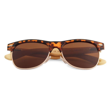 WUDN Handcrafted - Real Wood Sunglasses - Women's Tortoise Frame RetroShades