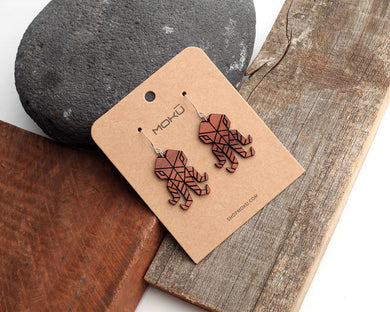 MOKU - Octopus | Wood Earrings | Eucalyptus