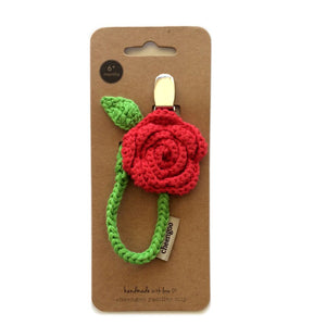 Cheengoo - Rose Cotton Pacifier Clip