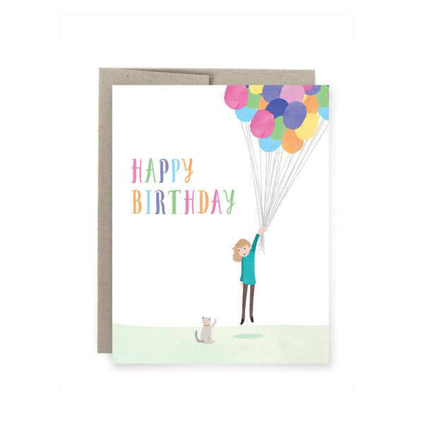 Art of Melodious - Happy Birthday Balloons Card