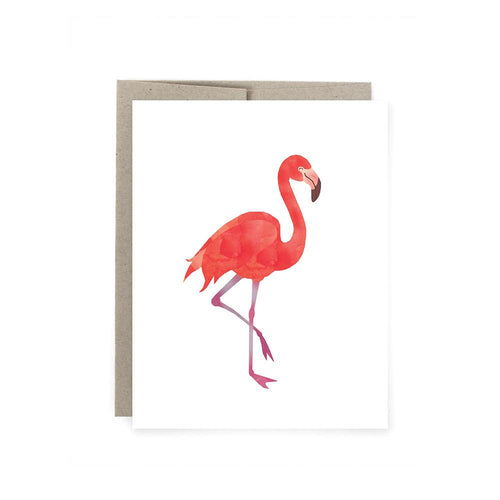 Art of Melodious - Pink Flamingo Card