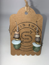 Sea Green Recycled Glass Earrings