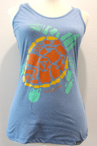 "Women's Sport ""Save the Sea Turtles Tank"" Blue/Green"