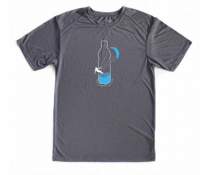 Kite Surfer Sports Tee - Carbon