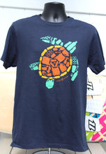 "Mens Navy ""Save the Sea Turtles Tee"" Green"
