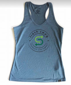 Women's Sport Racer Tank -Heather Blue