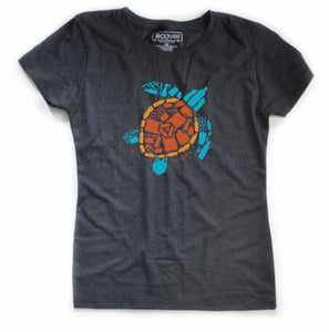 "Womens Carbon ""Save the Sea Turtles Tee"""