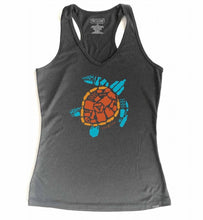 "Women's Sport ""Save the Sea Turtles Tank"" Carbon/Blue"