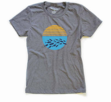 "Women's Classic Grey ""Ocean Plastic Awareness Tee"""
