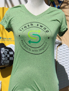 Womens Sport Tee - Heather Green