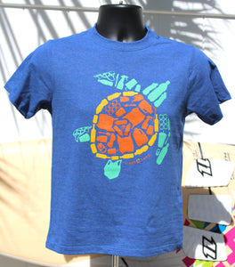 "Youth ""Save the Sea Turtles Tee"" Sweet Blue/Green"