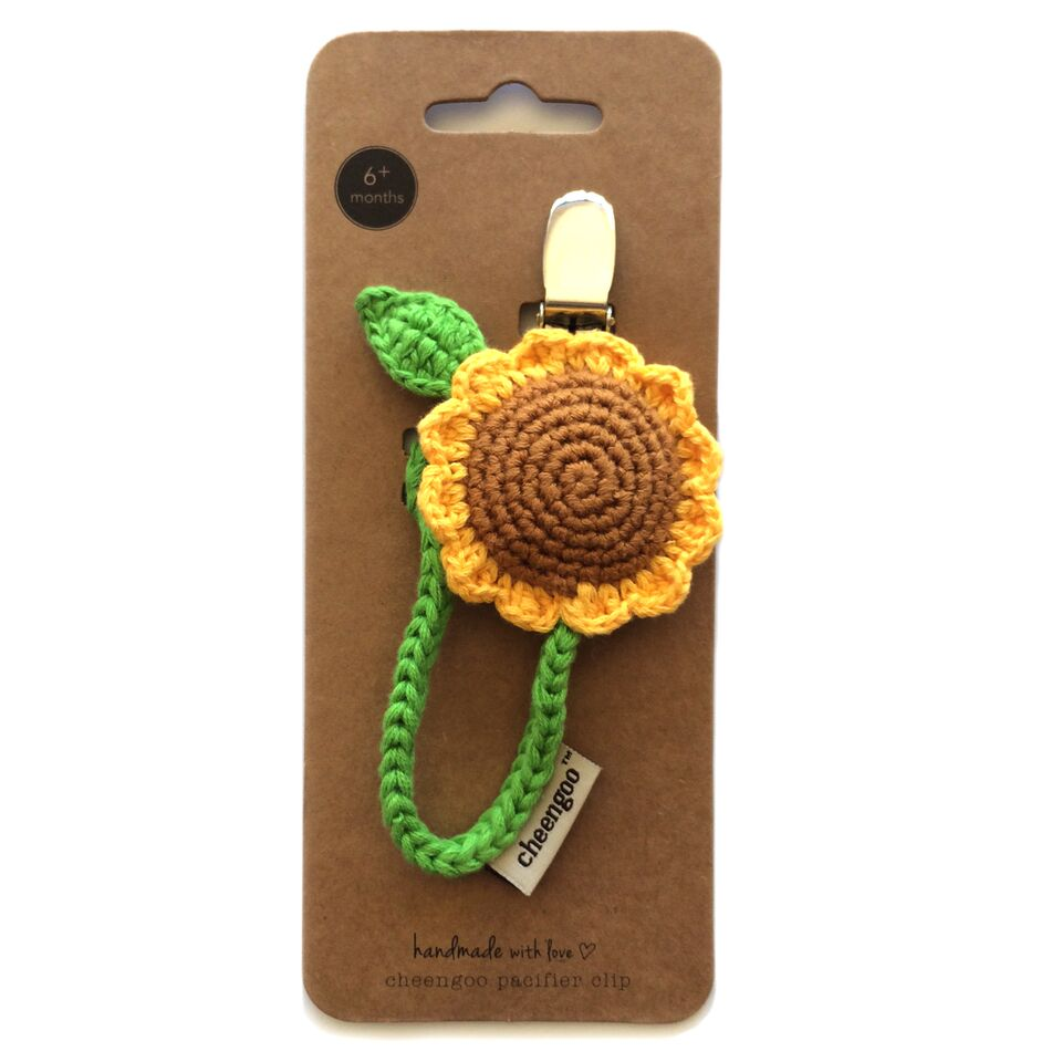 Cheengoo - Sunflower Pacifier Clip