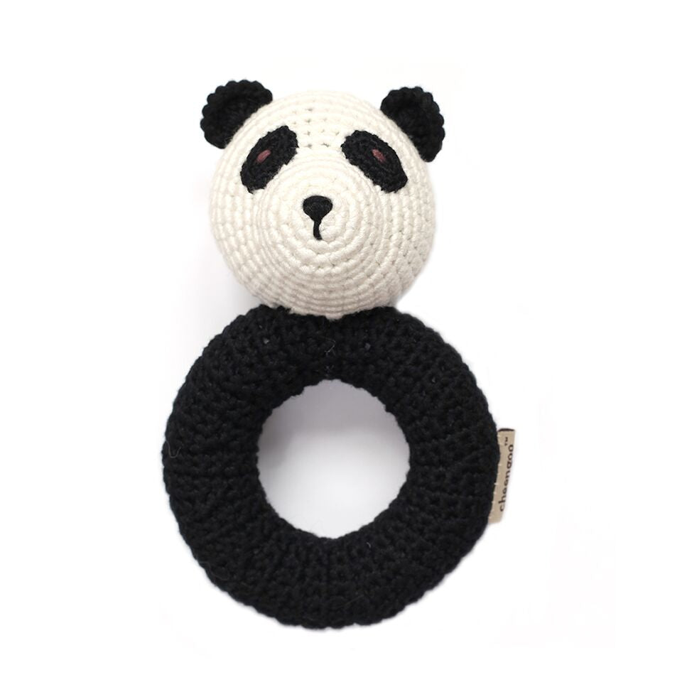 Cheengoo - Panda Ring Hand Crocheted Rattle