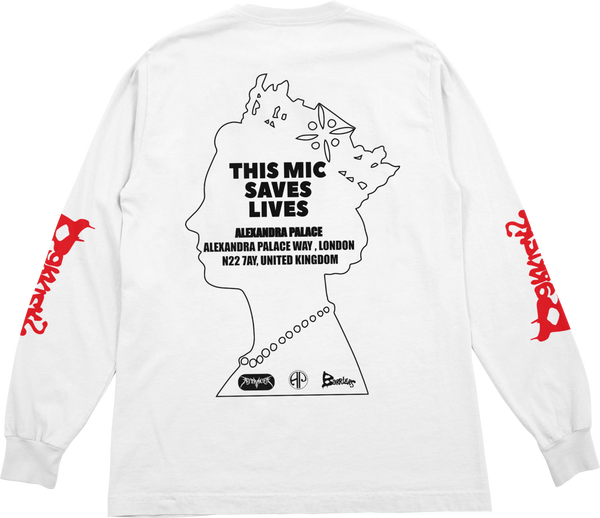 Barriers x AJT 'This Mic Saves Lives' L/S Tee (White)